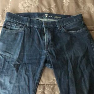 7 for all mankind jeans slimmy 34 waist zipper fly